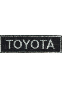 Шеврон для автомобиля  TOYOTA прямоугольник (метанить)