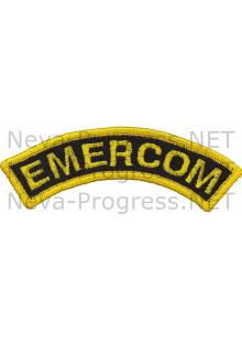 Шеврон дуга нарукавная EMERCOM (оверлок) черный фон