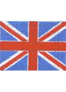 Шеврон Флаг Великобритании (Соединенного королевства) прямоугольник, без канта