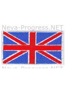 Шеврон Флаг Великобритании (Соединенного королевства) прямоугольник, белый кант