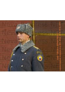 Комплект Шеврон ФСО на синем фоне с желтым кантом и шврон Президенский полк (дуга с желтым кантом)
