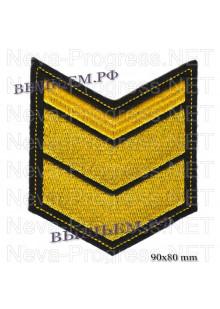 Шеврон по годам службы (годовка) 11 одинадцать лет службы (выслуги лет)