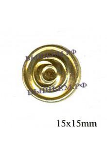 Пуговица металлическая  вневедомственная охрана 14 мм.