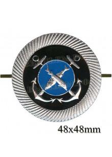 Кокарда металлическая для курсантов учебных заведений рыбопромыслового флота (рыбки).