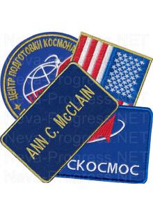 Набор шевронов на комбинезон для Американского космонавта