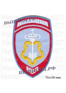 Шеврон полиции нового образца для сотрудников подразделений вневедомственной охраны.