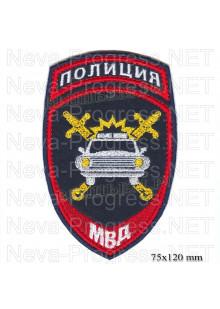 Шеврон полиции нового образца для сотрудников подразделений Госавтоинпекции