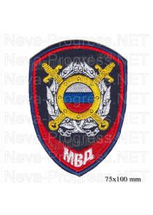 Шеврон полиции нового образца для сотрудников подразделений общественной безопасности и оперативных подразделений имеющих специальные звания внутренней службы