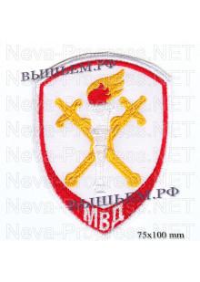 Шеврон полиции нового образца  следственные подразделения в системе МВД России ( красный кант )