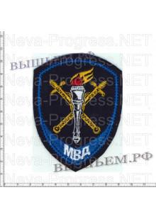 Шеврон полиции нового образца следственные подразделения в системе МВД России ( синий кант )