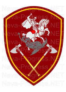 Шеврон Управление Приволжского округа войск Национальной гвардии, Росгвардии, Нацгвардии РФ (краповый, оливковый или черный фон)