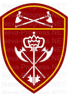 Шеврон воинские части обеспечения деятельности Приволжского округа войск Национальной гвардии, Росгвардии, Нацгвардии РФ (фон МОХ, краповый, оливковый или черный)