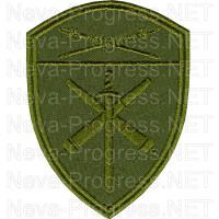 Шеврон артиллерийские ВЧ Восточного округа ВНГ, Росгвардии, Нацгвардии РФ (фон оливковый, зеленый МОХ, зеленый пиксель, зеленый камыш)