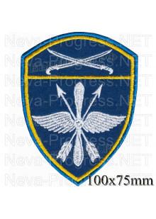 Шеврон авиационные воинские части Южного округа войск Национальной гвардии, Росгвардии, Нацгвардии РФ (голубой фон)