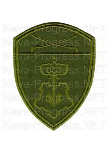 Шеврон вневедомственная охрана Южного округа ВНГ, Росгвардии, Нацгвардии РФ (фон оливковый, зеленый МОХ, зеленый пиксель, зеленый камыш)