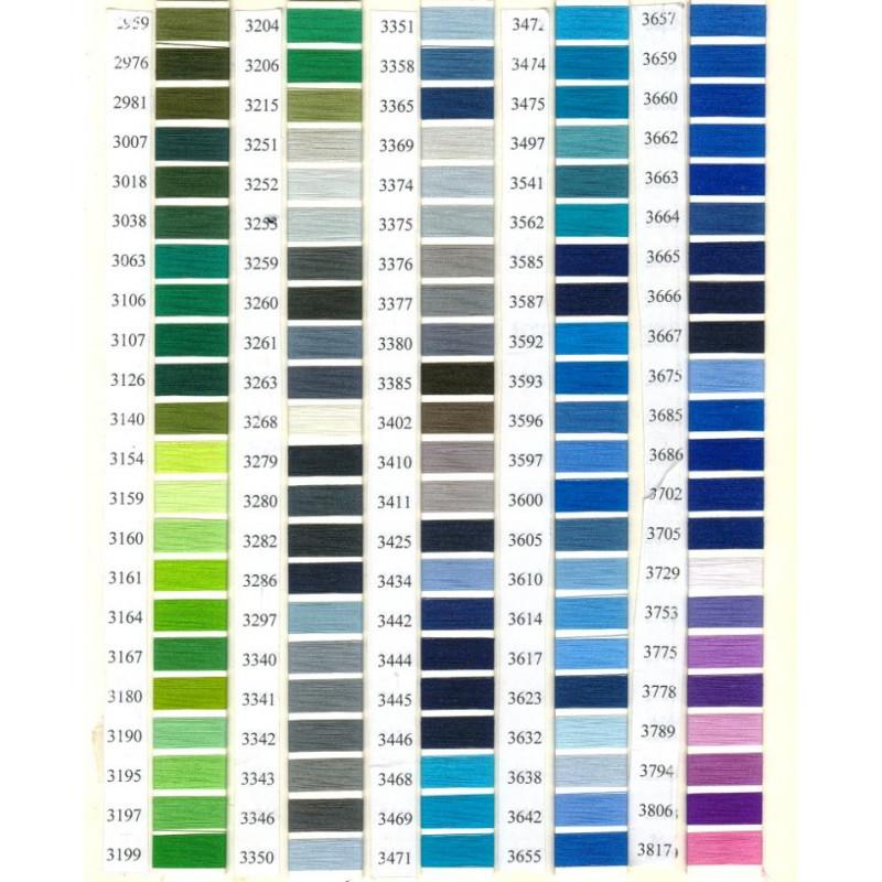 Нитки для вышивки полиэстер цвета по каталогу.