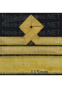 Нарукавный знак различия для моряков гражданского морского флота России. 12 категория. Цена указана за пару. Цвет выбирайте в опциях.
