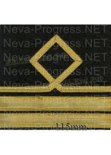 Нарукавный знак различия для моряков гражданского морского флота России. 7 категория. Цена указана за пару. Цвет выбирайте в опциях.