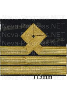 Нарукавный знак различия для моряков гражданского морского флота России. 8 категория. Цена указана за пару. Цвет выбирайте в опциях.