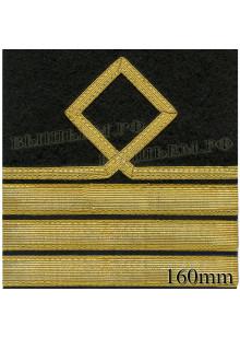 Нарукавный знак различия для курсантов и гражданского персонала ВМФ России. 8 категория.