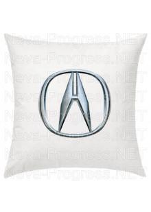 Подушка с вышитым логотипом ACURA в салон автомобиля, размер и цвет выбирайте в опциях