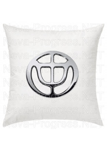 Подушка с вышитым логотипом BRILLIANCE в салон автомобиля, размер и цвет выбирайте в опциях