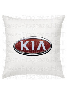 Подушка с вышитым логотипом KIA в салон автомобиля, размер и цвет выбирайте в опциях