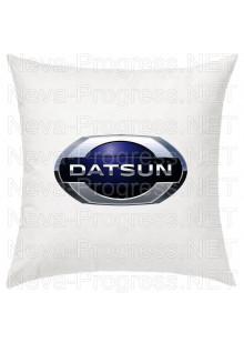 Подушка с вышитым логотипом DATSUN в салон автомобиля, размер и цвет выбирайте в опциях
