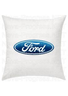 Подушка с вышитым логотипом FORD в салон автомобиля, размер и цвет выбирайте в опциях