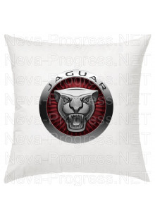 Подушка с вышитым логотипом JAGUAR в салон автомобиля, размер и цвет выбирайте в опциях