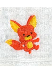 Полотенце с вышивкой  лисички размеры и цвета в ассортименте