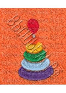 Полотенце с вышивкой  бубликов  размеры и цвета в ассортименте