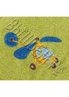 Полотенце с вышивкой  вертолета  размеры и цвета в ассортименте