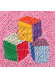 Полотенце с вышивкой  кубиков  размеры и цвета в ассортименте