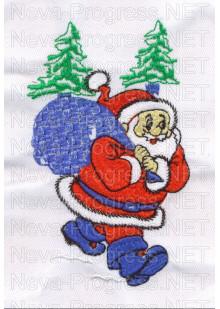 Полотенце с вышивкой  деда морозы  размеры и цвета в ассортименте