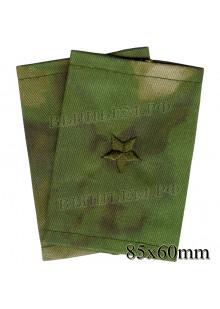 Фальшпогоны для армии, МЧС и полиции майор (капитан 3-го ранга на флоте) одна большая звездочка на зеленой флоре, цена за пару, цвет выбирайте в опциях.