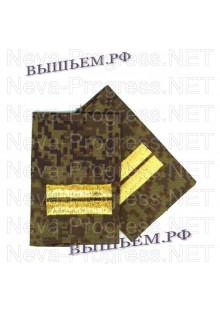 Фальшпогоны для армии, МЧС, полиции и курсантов младший сержант (старшина 2 статьи на флоте) цена за пару, цвет выбирайте в опциях.