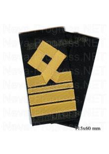 Фальшпогоны гражданского морского транспортного и рыболовного флота России 8 категории.( Старший помощник, старший механик) Цена за пару.