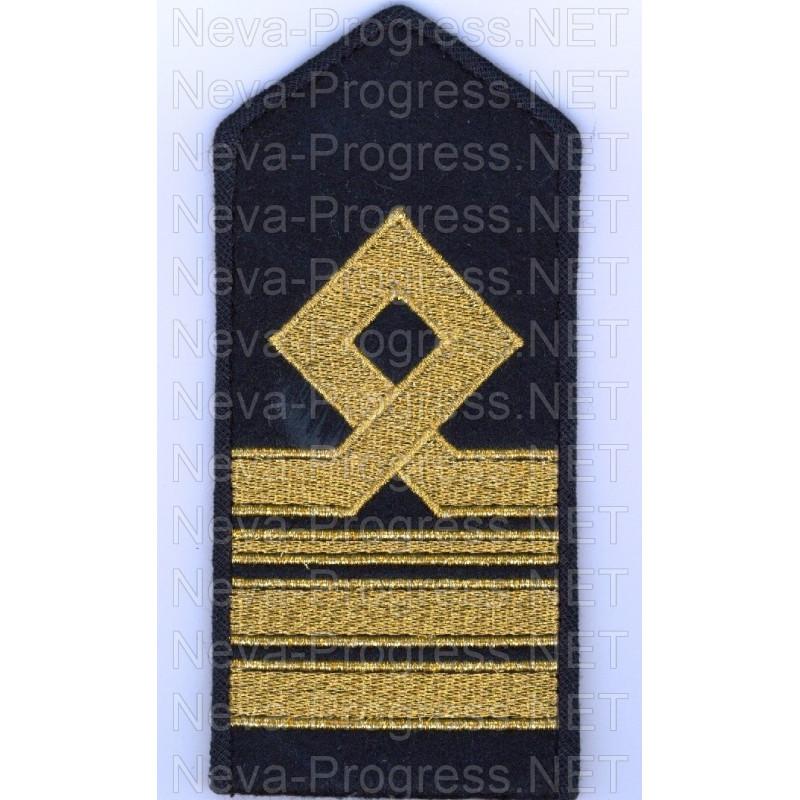 Погоны гражданского морского транспортного и рыболовного флота России 8 категории.( Старший помощник, старший механик) Цена за пару.