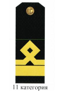 Погоны для курсантов и гражданского персонала Военно-Морского Флота России 11 категории. Цена за пару.