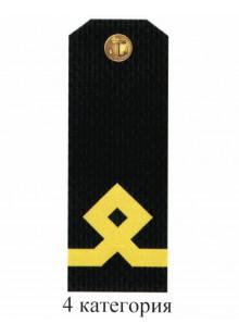 Погоны для курсантов и гражданского персонала Военно-Морского Флота России 4 категории. Цена за пару.