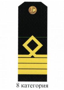 Погоны для курсантов и гражданского персонала Военно-Морского Флота России 8 категории. Цена за пару.