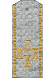 Погоны для кадетов серого цвета с буквами МДКК желтого цвета и двумя желтыми продольными полосами. цена за пару