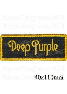 Шеврон РОК атрибутика Deep Parple оверлок, черный фон, липучка или термоклей.