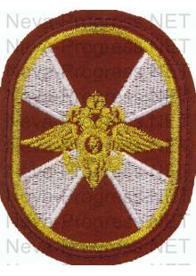 Шеврон Внутренние войска (Росгвардия) России (расправленные крылья, овал, краповый, оливковый или черный фон)