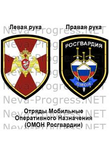Комплект шевронов ОМОН Росгвардии России(до 2017 года)