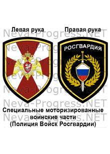 Комплект шевронов Полиция Росгвардии России (до 2017 года)