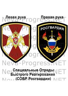 Комплект шевронов СОБР Росгвардии России(до 2017 года)
