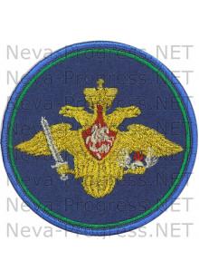 Нашивка ВДВ (210 приказ)  голубой оверлок