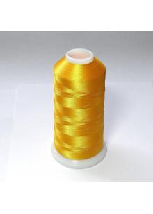 Нитки для вышивки из полиэстера. Цвет желтый.